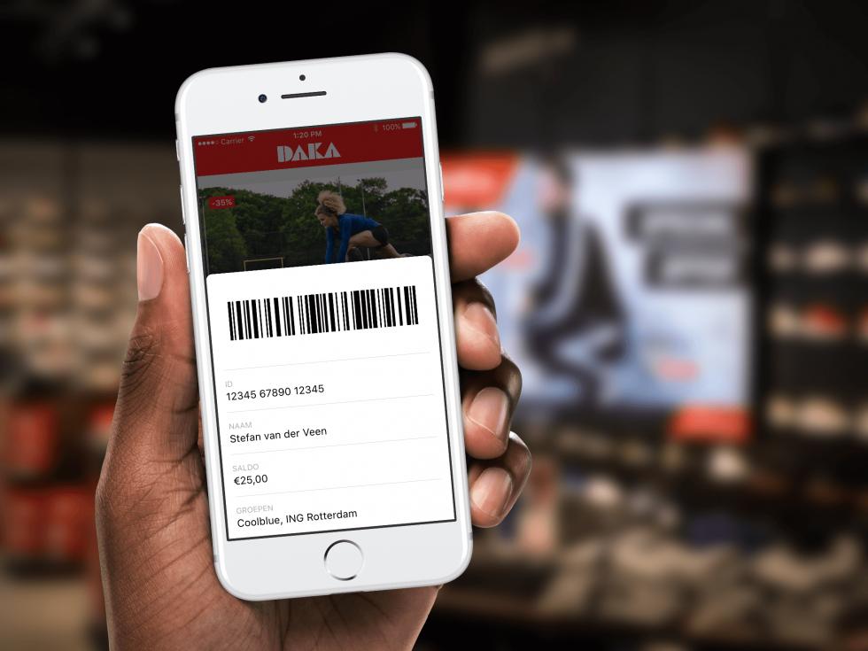 Klantenkaart in de Daka VIP app